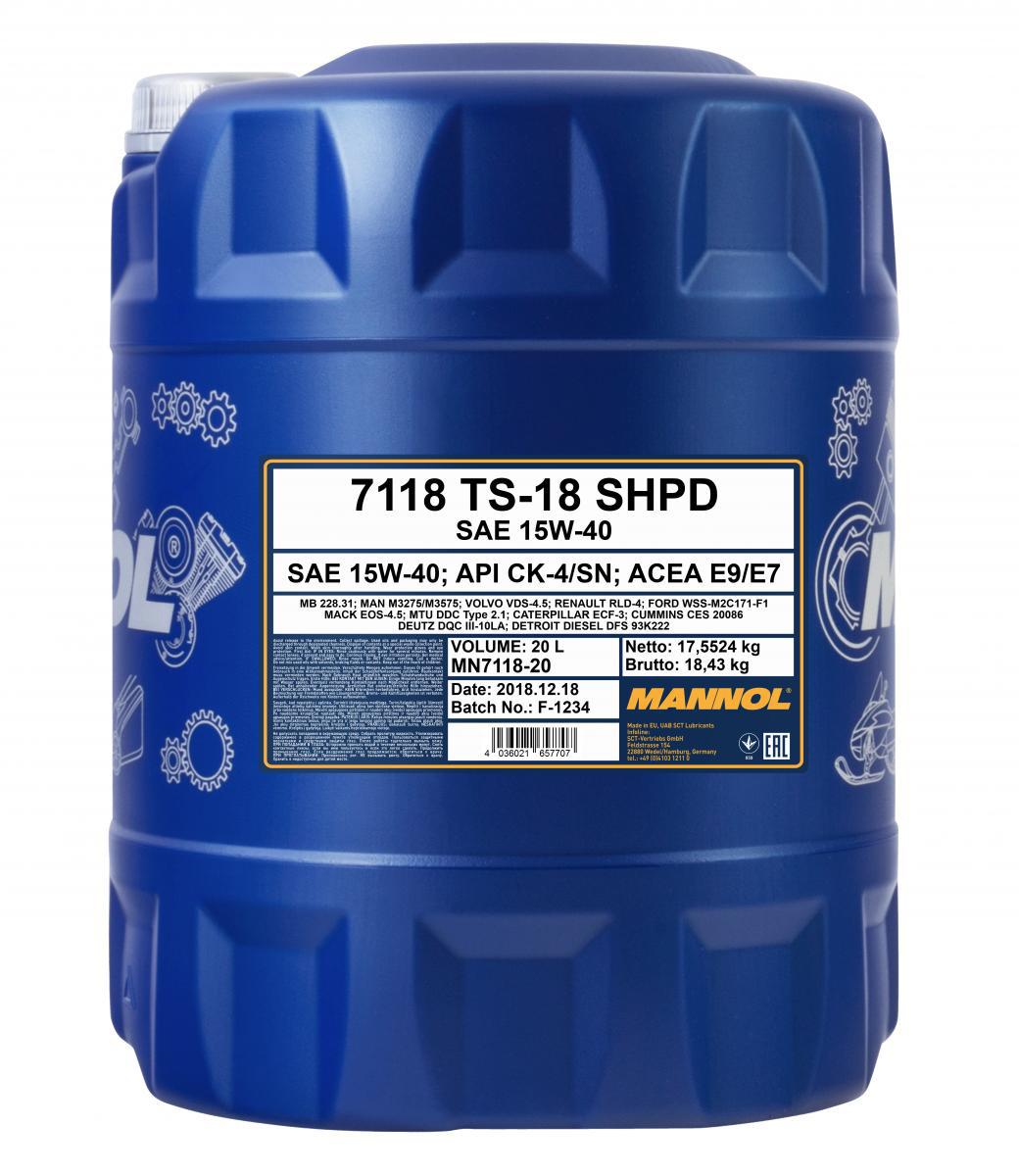 TS-18 SHPD 15W-40