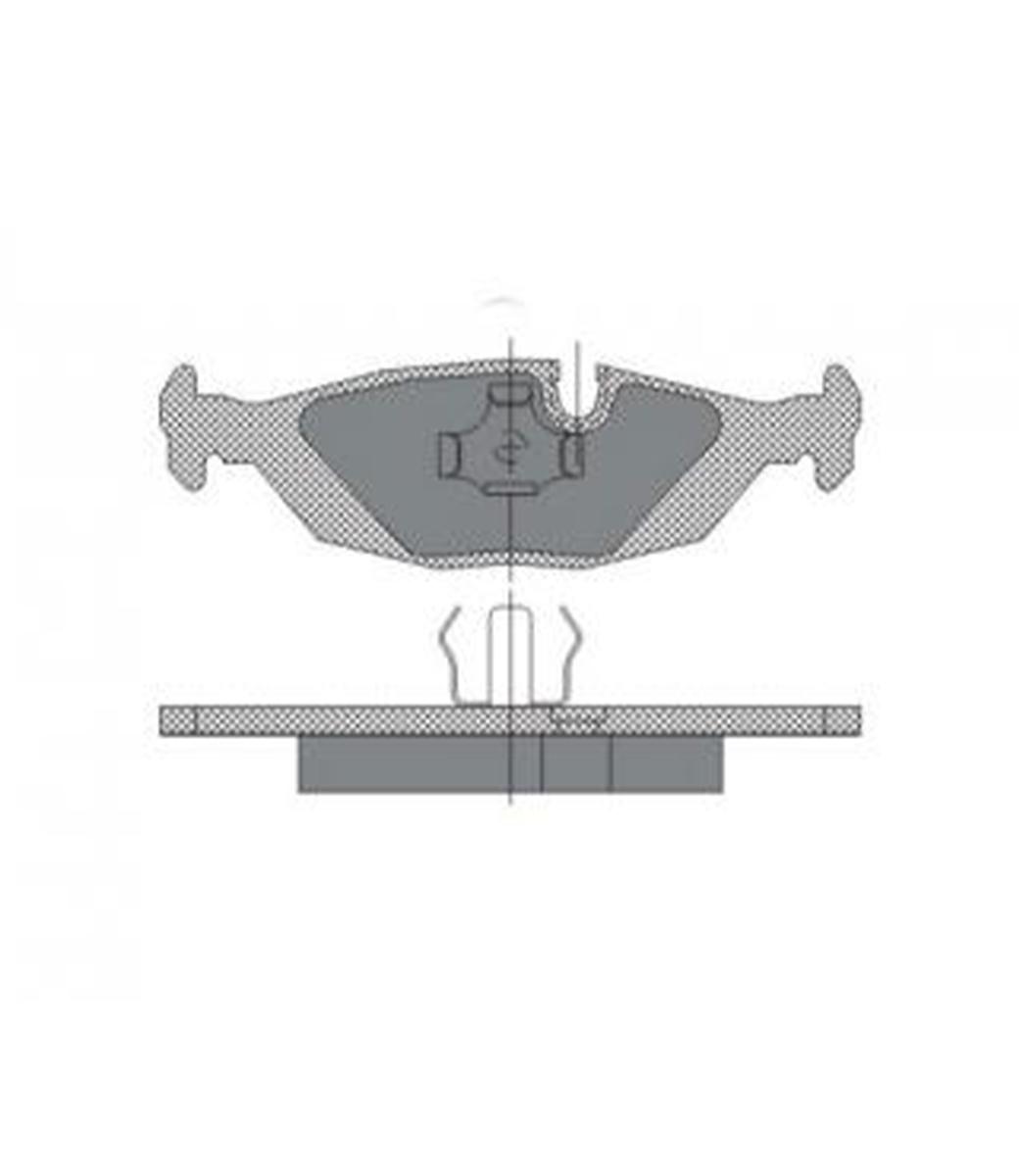 Brake Pad Set, disc brake SP 146 PR