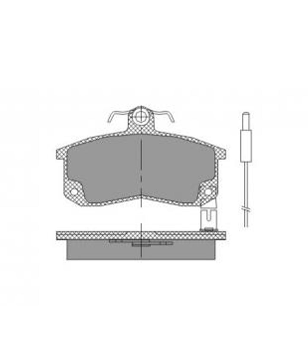 Brake Pad Set, disc brake SP 216 PR