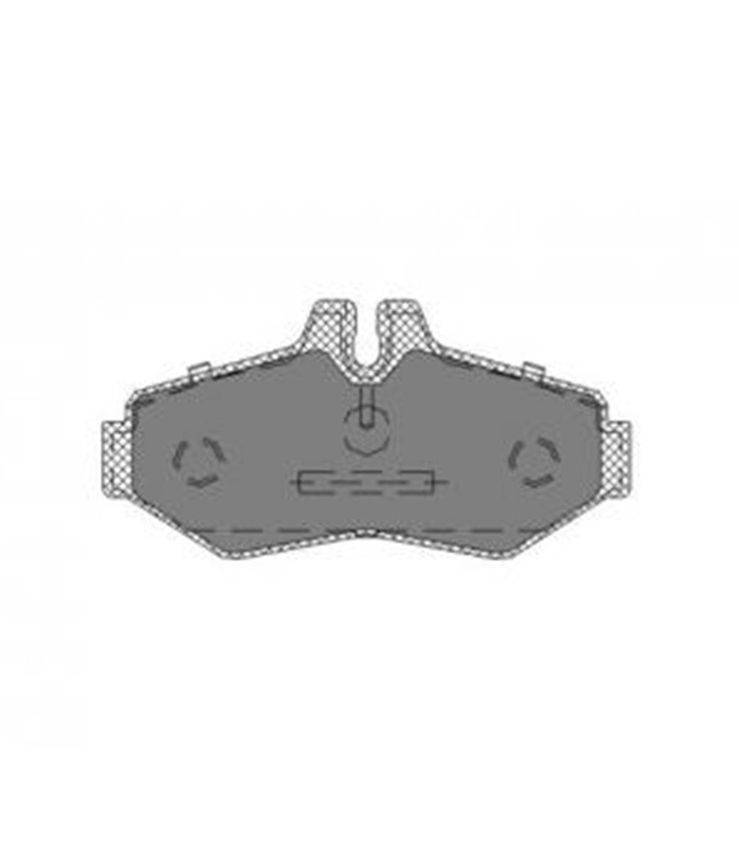 Brake Pad Set, disc brake SP 233 PR