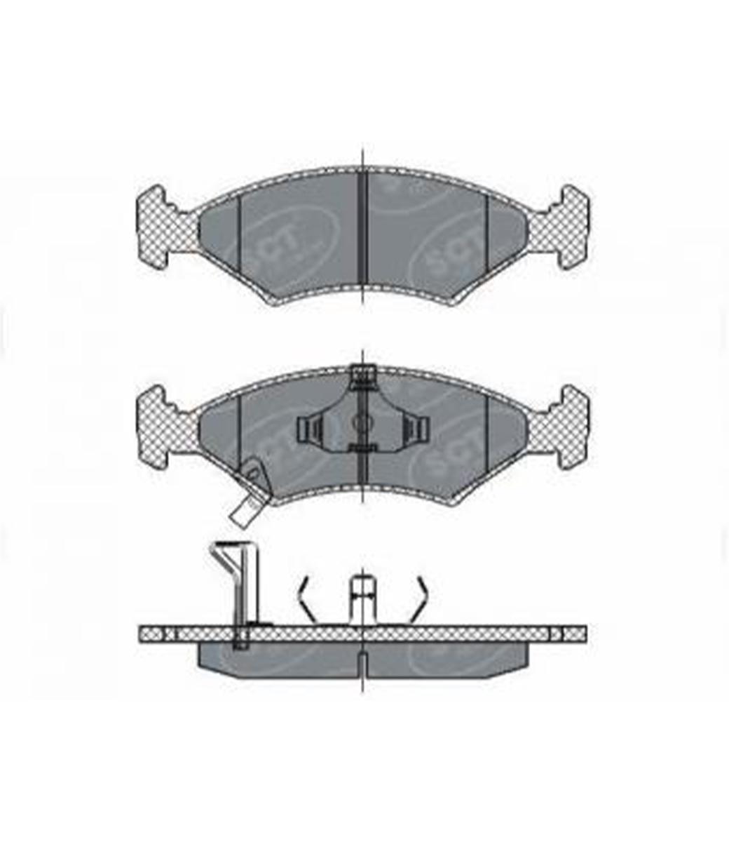 Brake Pad Set, disc brake SP 266 PR