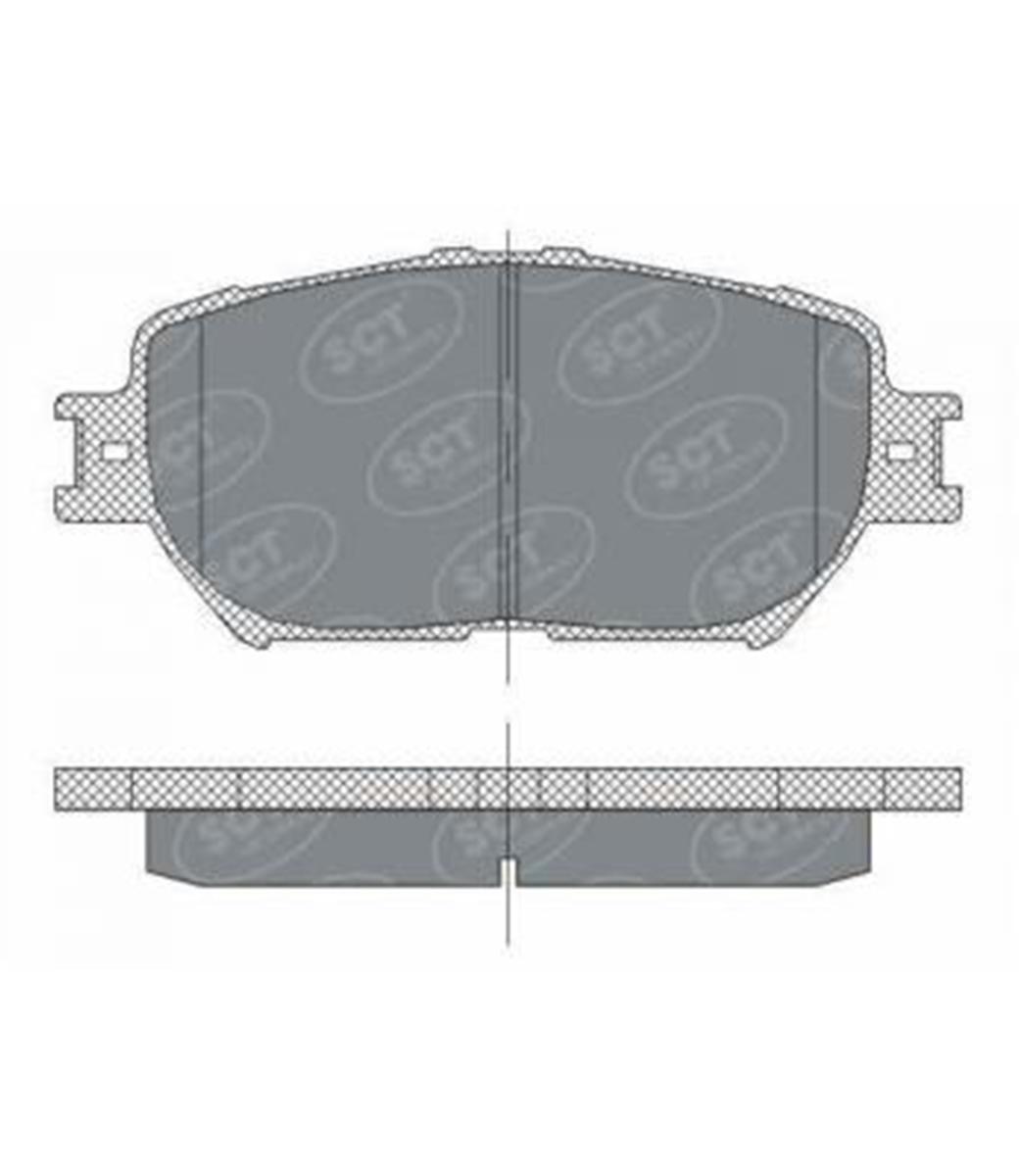 Brake Pad Set, disc brake SP 275 PR