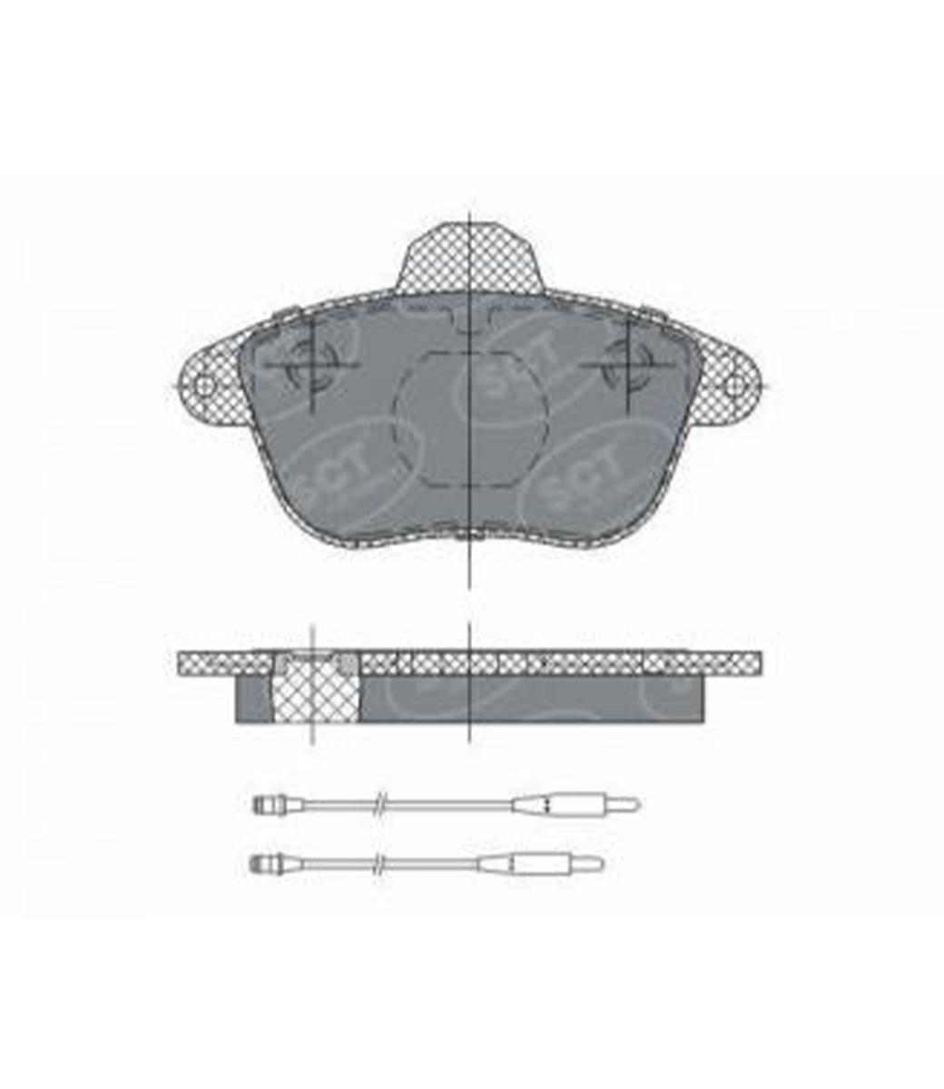 Brake Pad Set, disc brake SP 295 PR