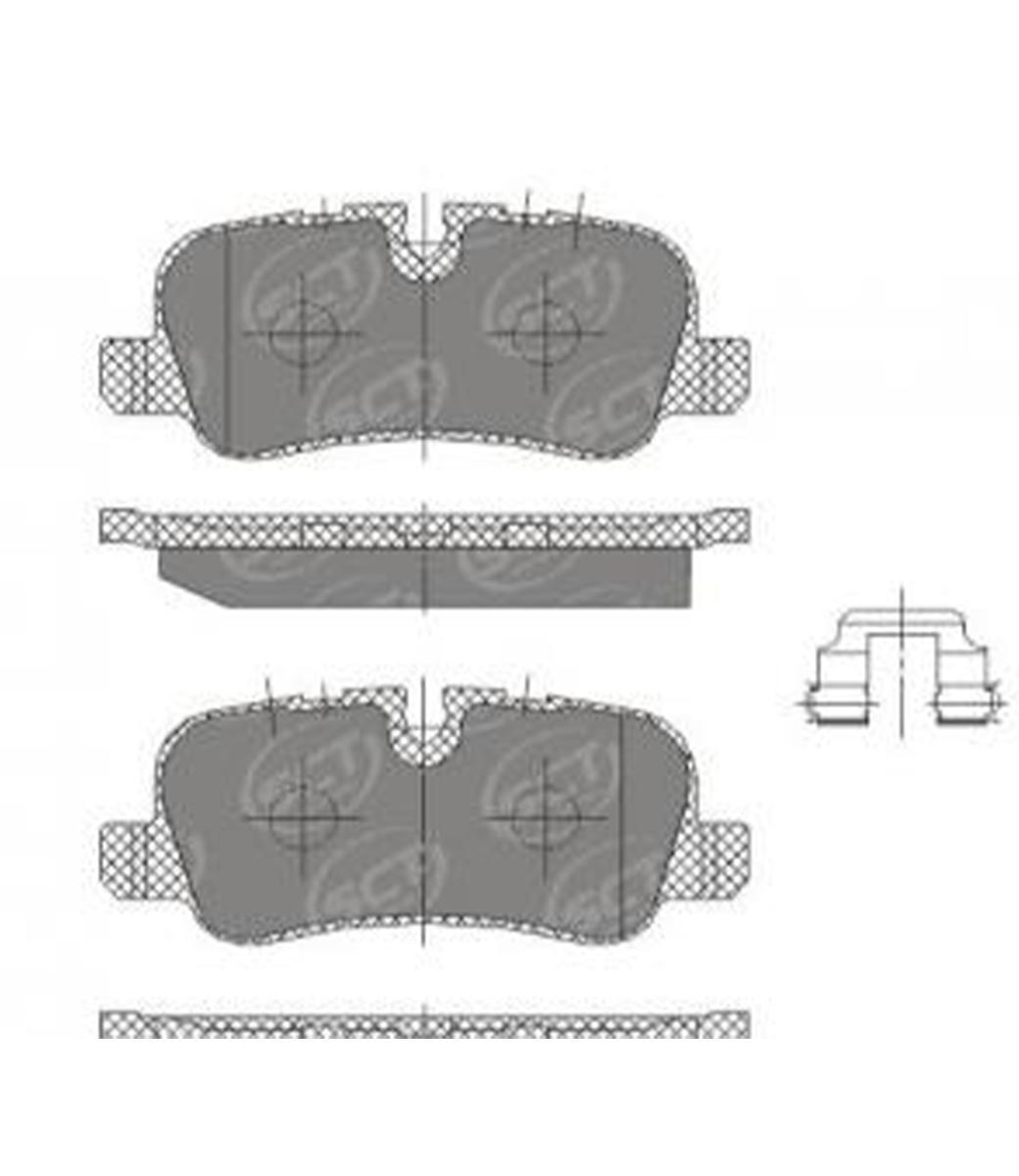 Brake Pad Set, disc brake SP 330 PR