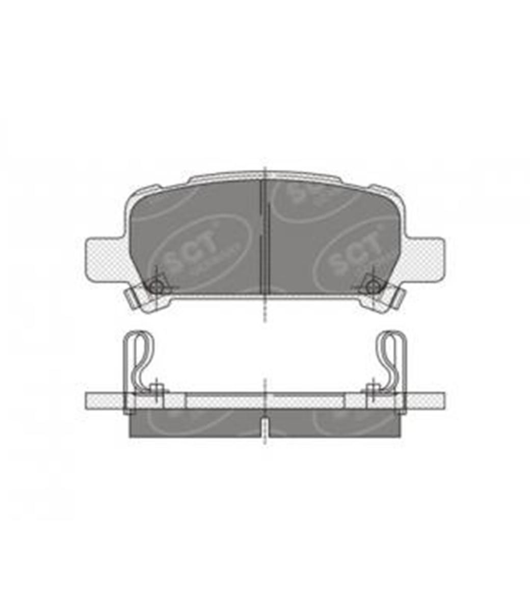 Brake Pad Set, disc brake SP 341 PR