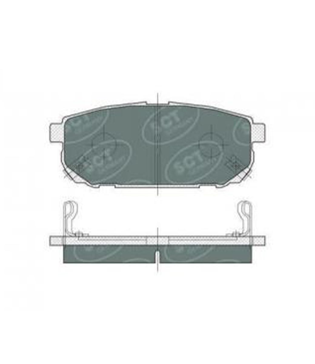 Brake Pad Set, disc brake SP 372 PR