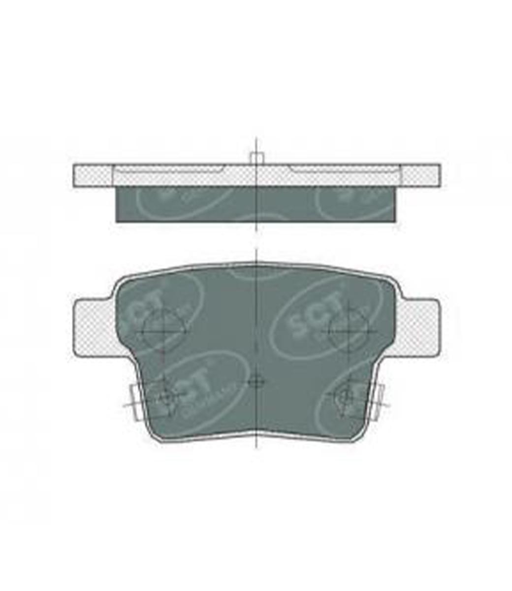 Brake Pad Set, disc brake SP 375 PR