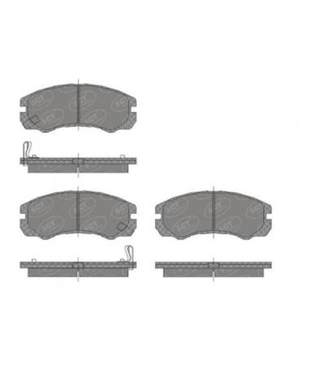 Brake Pad Set, disc brake SP 438 PR