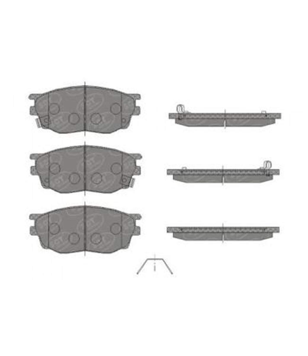 Brake Pad Set, disc brake SP 443 PR