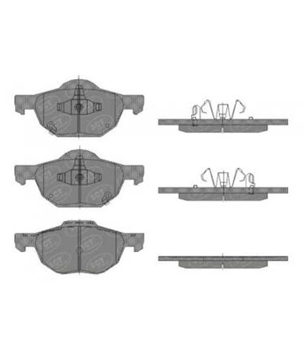 Brake Pad Set, disc brake SP 447 PR