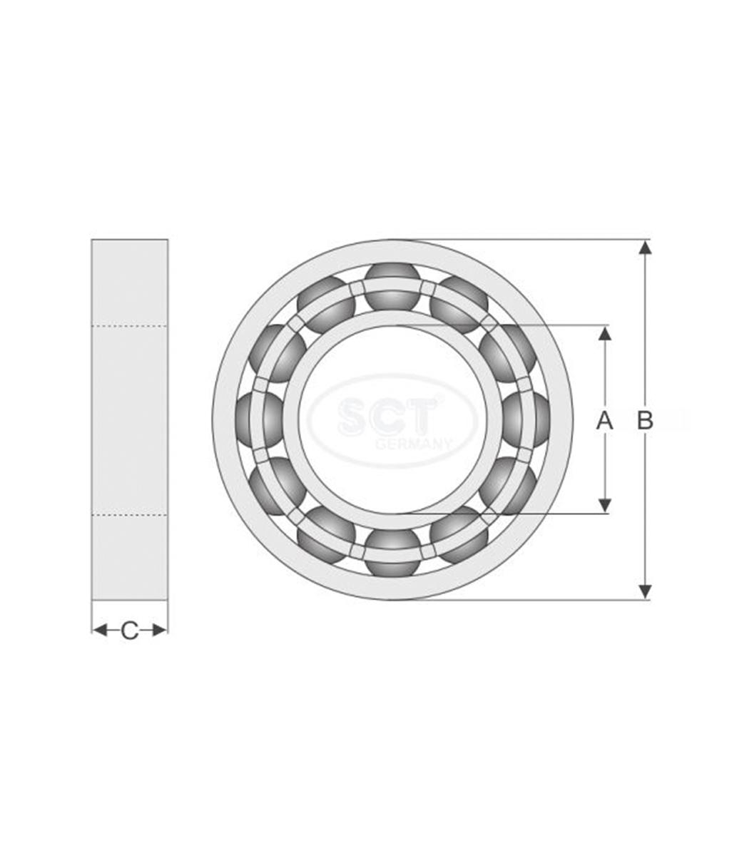 Wheel Bearing Kit SCP 523