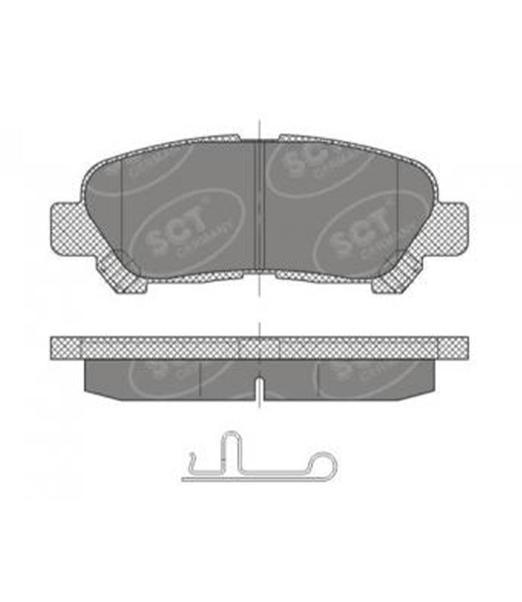 Brake Pad Set, disc brake SP 481 PR