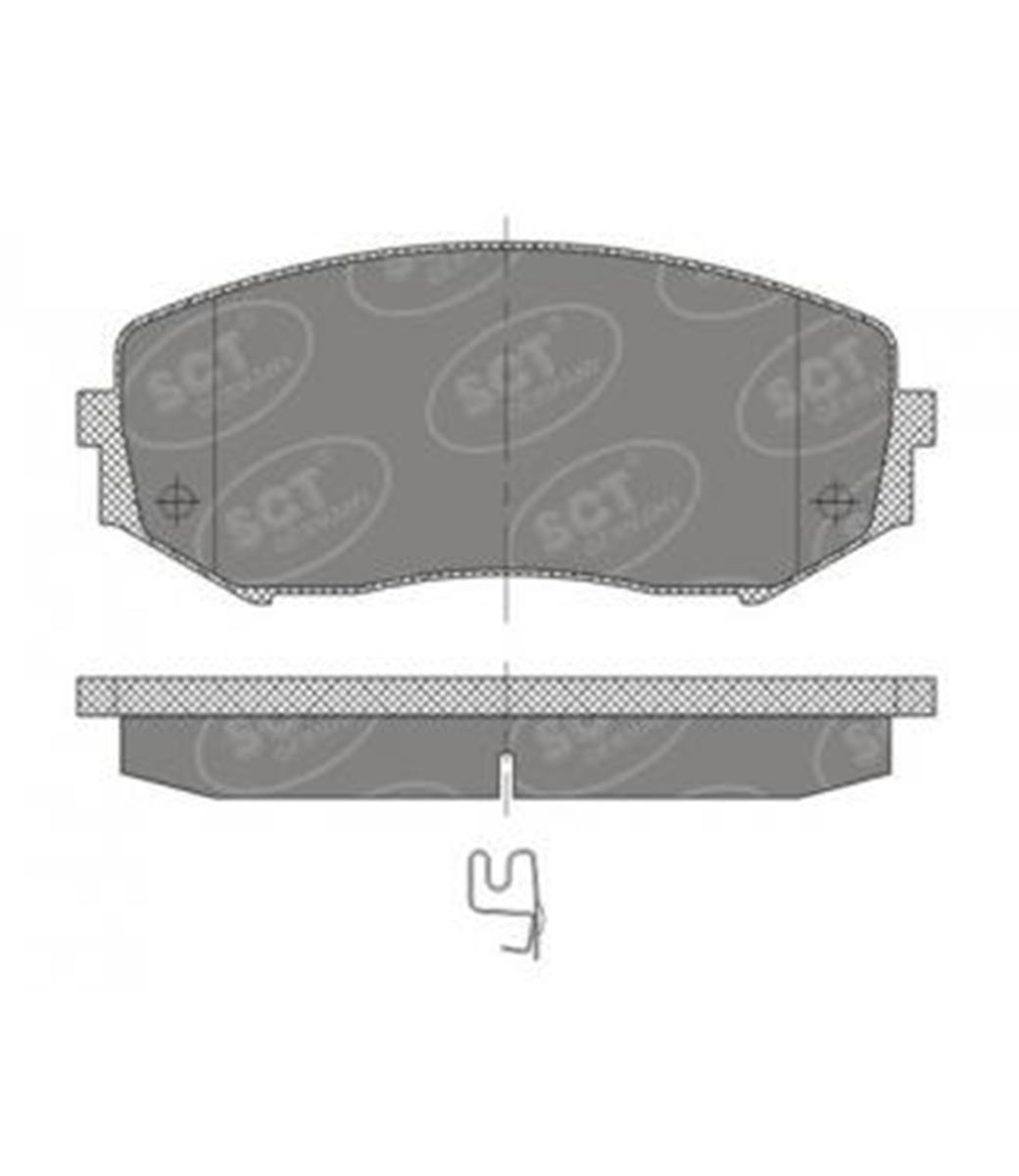 Brake Pad Set, disc brake SP 482 PR