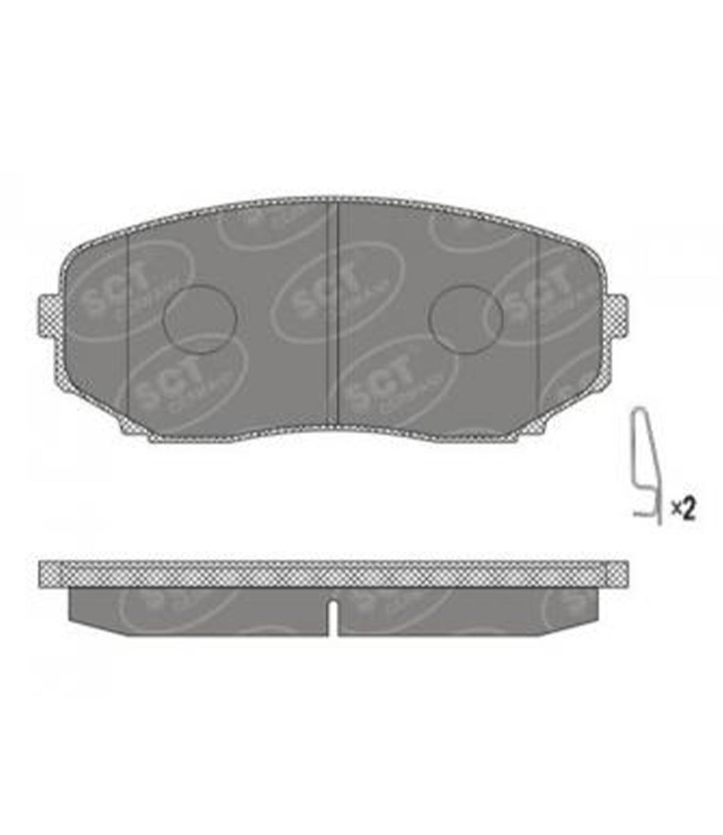 Brake Pad Set, disc brake SP 641 PR
