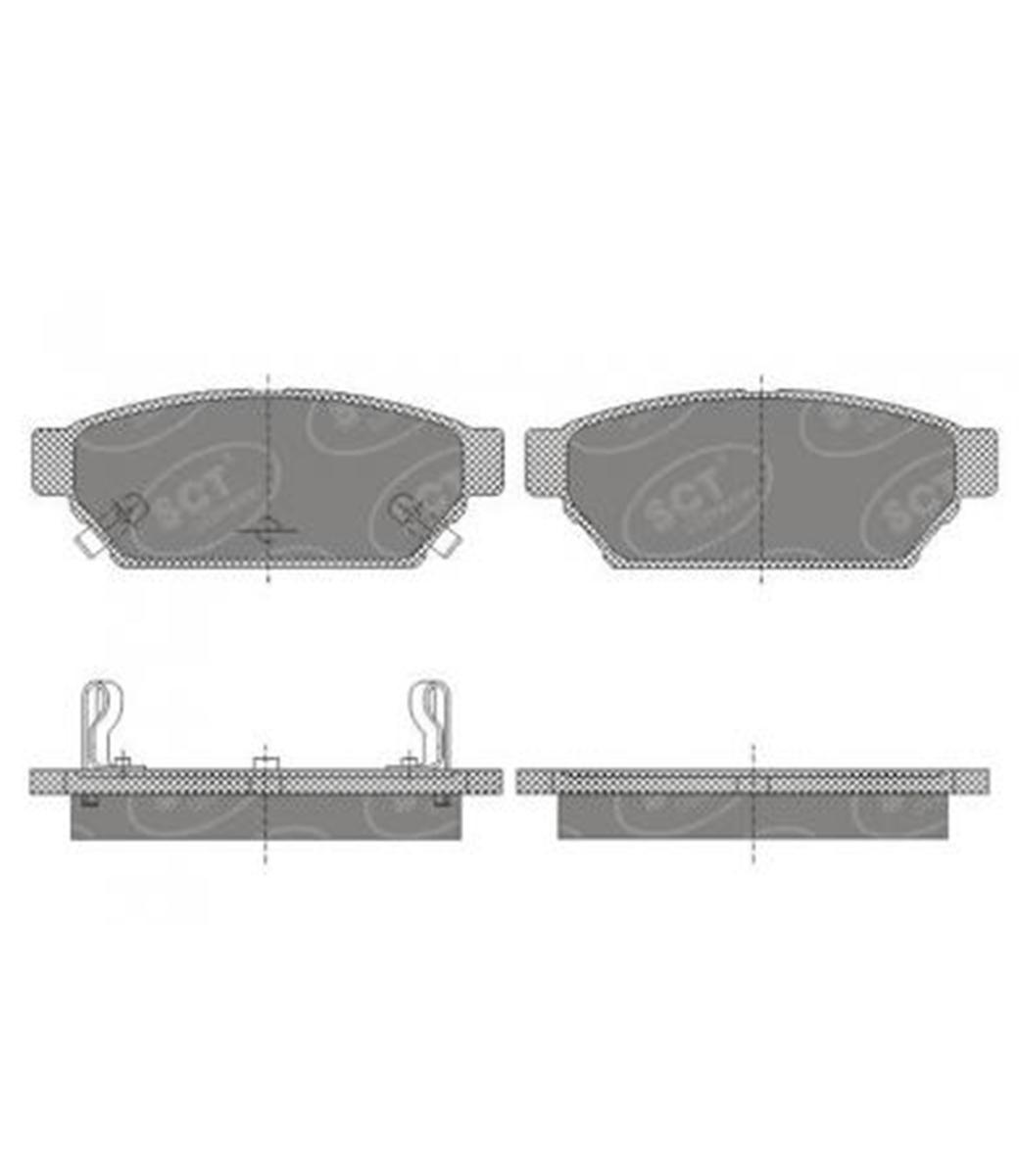Brake Pad Set, disc brake SP 652 PR