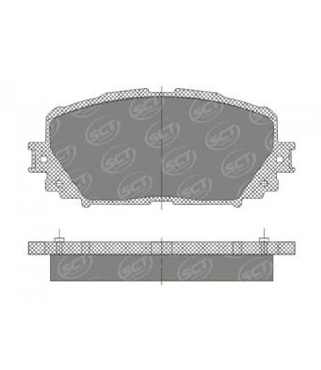 Brake Pad Set, disc brake SP 673 PR